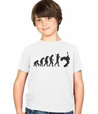Evolution of a Guitarist Player Kids T-Shirt Childs Ages 3-13 Boys and Girls Tee