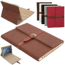 Buckle Belt Faux Leather Stand Folio Foldable Case Cover For Apple iPad 4 3 2