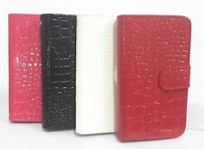 Crocodile Magnetic Flip PU Leather Card Wallet Case Cover for Samsung cell phone