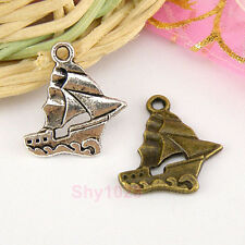10Pcs Tibetan Silver,Antiqued Bronze Yacht Sailboat Ship Charms Pendants M1560
