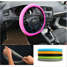 Universal Auto Car Steering Wheel Cover suv Pink Soft Silicon Skidproof Odorless