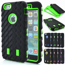 Tyre Tread Soft Rubber Hard PC Hybrid Heavy Duty Shockproof Case Skin For iPhone