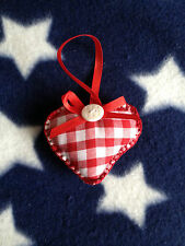 Pin cushion / Christmas tree decoration cute heart handmade gift stocking filler