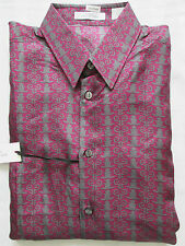 VERSACE COLLECTION Mens Purple Silk Shirt Size 40 (SMALL-MEDIUM)