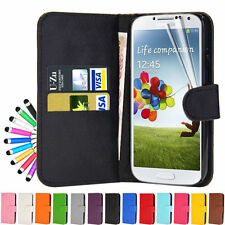 Leather Wallet Flip Case Series for various samsung galaxy phones + Screen Guad
