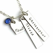 Personalised Keepsake Necklace, Family, Children's Names, Hand Made Gift, Women