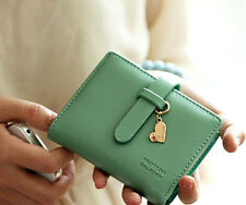 lovely  fashion lady women  purse clutch wallet short small bag PU card holder