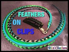 Clip Hair Feather Extensions Long Ladies Accessories FREE GIFT $7 AuSLr