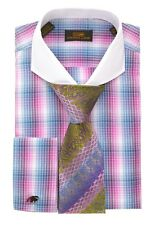 Dress Shirt by Steven Land Fall 2014 Spread Collar French Cuffs-Purple-DS1250-PU