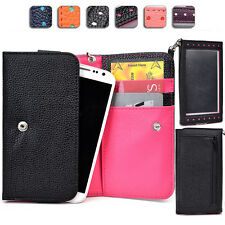 "Touch Responsive Woman-s Wrist-let Wallet Case Clutch ML|E fits 5.0"" Cell Phone"