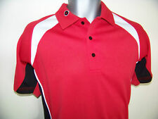 */\///\ Funky Red / White Golf Shirt - Top //\//\*