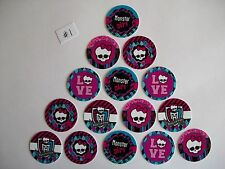 "15 ct 1"" Monster High Set B Inspired Buttons Pinbacks Flatbacks hairbows"