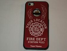 PERSONALIZED cell phone case fits: Apple IPHONE 5 & 5S, FIREFIGHTER, FIREMAN