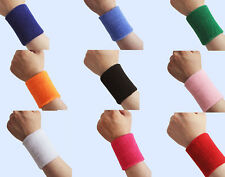 1 pair Unisex Sports Cotton Sweat Band Sweatband Wristband Wrist Band DS@#CA-32