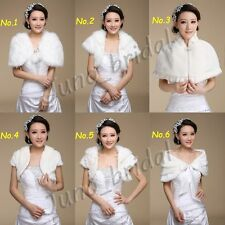 Wedding Faux Fur Shrug Wrap Cape Bolero Stole Scalf Shawl Coat Jacket Cloak