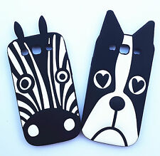 Cute Lovely Cartoon Dog Zebra Soft Silicone Cover Case Skin For Mobile Phones