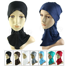Hijab Under Scarf Caps Bone Bonnet Islamic Head Wear Band Neck Chest Cover Hats