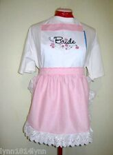 BRIDE PARTY PINI APRONS for Bridal Showers Made to order Avaiable in most colour