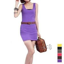 Women Fashion Y-shaped Long Vest Halter Tank T-shirt Mini Dress Top