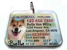 California NEW vanity drivers license dog cat custom novelty tag pets by ID4PET