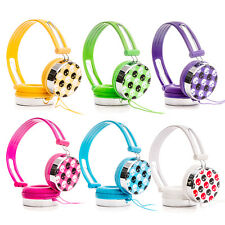 Adjustable Over-Ear Skull DJ Style Headphones Earphones iPod MP3 iPad Tablet DVD