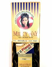 "SHAKE N GO MILKY WAY 100% HUMAN HAIR DIVA CURL 12"" WAVY WEAVING HAIR"