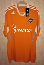 NEW Mens XL ADIDAS MLS Houston Dynamo Home Replica S/S Soccer Jersey Orange Whit