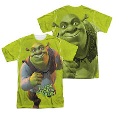 SHREK I LOOK GOOD IN GREEN FRONT & BACK SUBLIMATION PRINT T-SHIRT SIZES S - 3XL