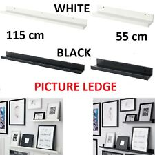 IKEA RIBBA Picture Photo Ledge Rail Shelf Colours & Sizes