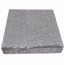 mp02t Silver Grey Thick Folds Shimmer Velvet 3D Box Sofa Seat Cushion Cover Size
