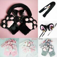 Cosplay accessoires Costume oreille de chat Tail crolle+gants+queue Bow-tie 1Set