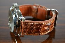 MA WATCH STRAP 26MM REAL CROCODILE LEATHER F.PANERAI HANDMADE SPAIN CROCO-HABANA