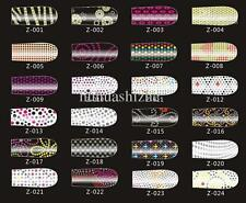 3D Bling Nail Art Wrap Sticker  Patch hands and toes Wraps DIY 16 pcs/set