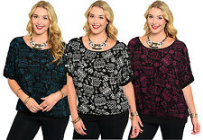 Lady Sexy Women Fashion Short Sleeve Plus Size Casual Sweater Top Blouse Shirt