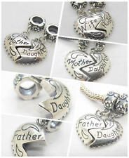 A Pairs Husband love wife Mother Daughter Father daughter  Charm Christmas Gift