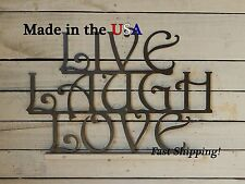 Live Laugh Love, Metal Sign, Home Decor, Wedding Gift, Wall Artwork, Love, W1012
