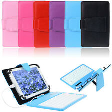 Leather Stand Case Cover with Micro USB Keyboard For 7 Inch Tablet PC Excellent