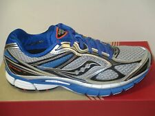 SAUCONY GUIDE 7 (SILVER/BLUE/BLACK) MENS RUNNING