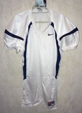 NEW Mens XL NIKE Crack Back Game Mesh White Navy Blue Football Jersey Practice