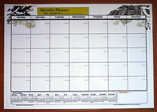 A3 Size Laminate Monthly planner dry wipe wall chart & 2014, 2015, 2016 calendar