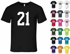 Number 21 Twenty-One T-Shirt Tee - American Apparel 100% Cotton, S, M, L, XL, 2X