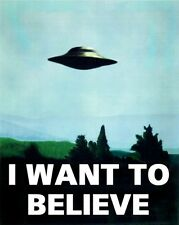 I Want To Believe X Files Art Movie Film UFO POSTER PRINT A4 A3 IWTB01