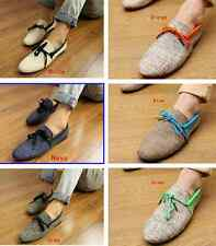 NEW Mens Canvas Casual Lace Slip On Loafer Shoes Moccasins Driving Shoes