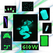 1 Ounce Glow-in-the-Dark Powder ~ Glow Pigment ~ Violet * Green * Blue * Aqua