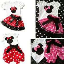 Children Girl's 2PC Sets Skirt Suit baby Clothing sets dots shorts set LZ-T0224