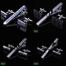 Mens Silver Chrome Stainless Steel Standard Tie Clip Clasp Bars Pins & Cufflinks