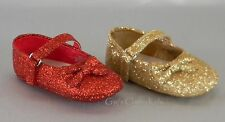 New Baby Infant Red Gold Glitter Dress Shoes Crib Christmas Dorothy Holidays