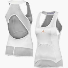 NEW Womens XS 32 L 44 ADIDAS Stella McCartney Barricade 2 White Tennis Tank Top