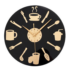 Kitchen Wall Clock Knife & Fork Spoon Retro Art Tableware Watch Home Decor