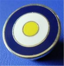 MOD TARGET BADGE - IN LEEDS UNITED COLOURS  12MM 16MM 20MM DIA